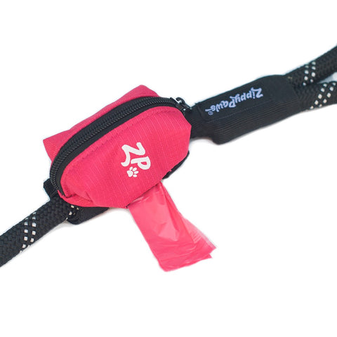 ZIPPY PAWS ADVENTURE LEASH BAG DISPENSER - HIBISCUS PINK