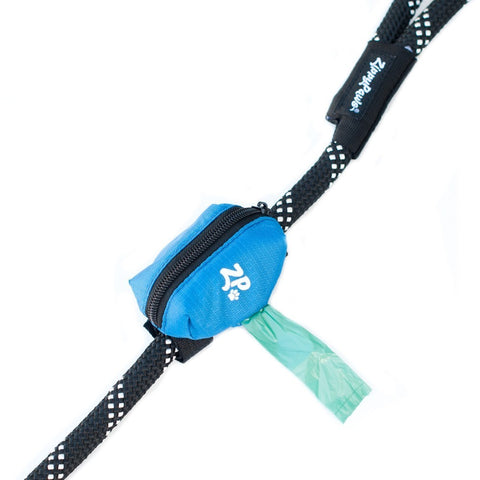 ZIPPY PAWS ADVENTURE LEASH BAG DISPENSER - GLACIER BLUE