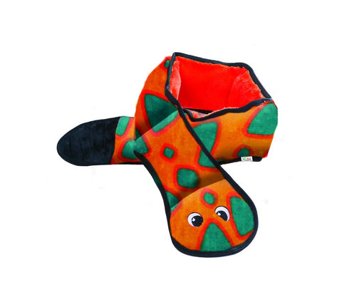 OUTWARD HOUND INCINCIBLE SNAKE 6 SQUEAKERS - ORANGE & BLUE