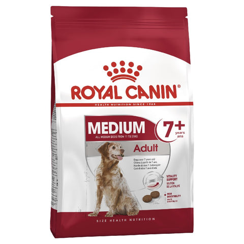 ROYAL CANIN DOG FOOD MEDIUM ADULT 7+