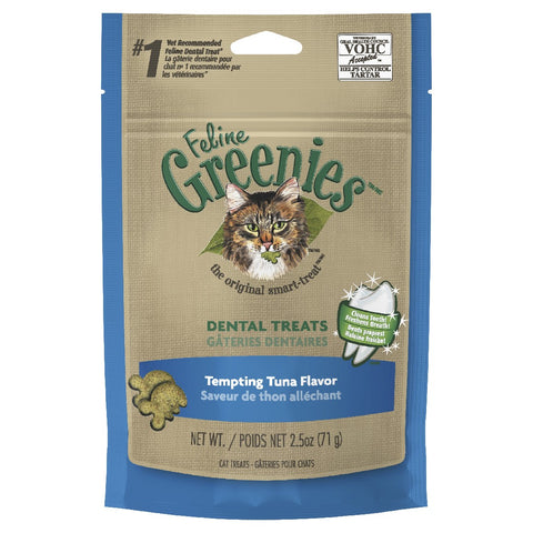 GREENIES CAT DENTAL TREATS TUNA FLAVOUR 71G
