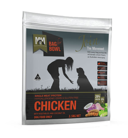 MEALS FOR MUTTS DOG FOOD SINGLE PROTIEN - GRAIN FREE CHICKEN