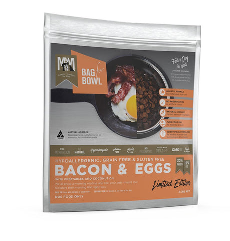 MEALS FOR MUTTS DOG FOOD GRAIN FREE BACON & EGG