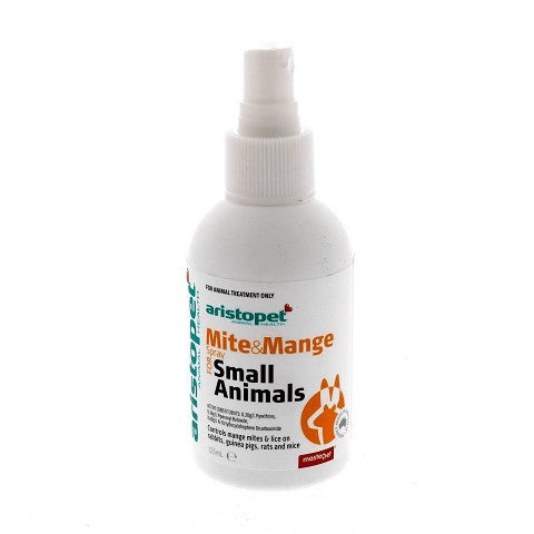 ARISTOPET MITE & MANGE SPRAY FOR SMALL ANIMALS 125ML
