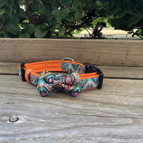 Soapy Moose Adjustable Collar with Bow Tie Morrocan Sunrise