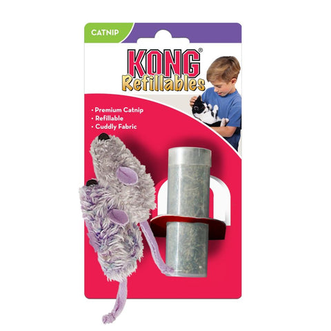 Kong Refillables Purple & Frosty Grey Mouse Cat Toy
