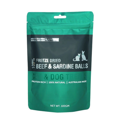 Freeze Dry Australia Freeze Dried Beef and Sardine Balls - 100g