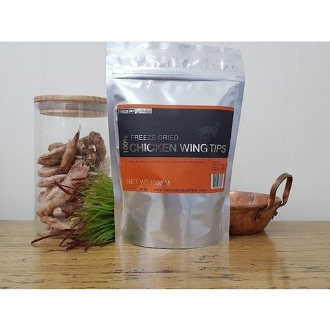 Freeze Dried Chicken Wing Tips - 100G by Freeze Dry Australia