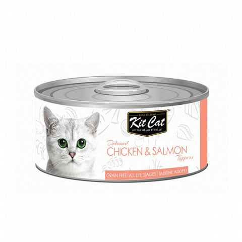 KIT CAT CHICKEN & SALMON CAT FOOD CAN 80G