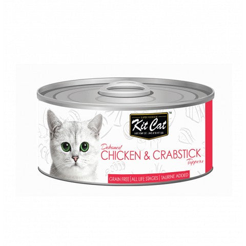 KIT CAT CHICKEN & CRABSTICKS CAT FOOD CAN 80G