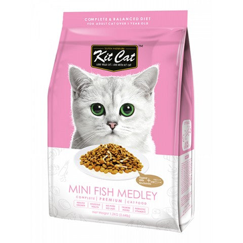 KIT CAT PREMIUM CAT FOOD MINI FISH MEDLEY 1.2KG