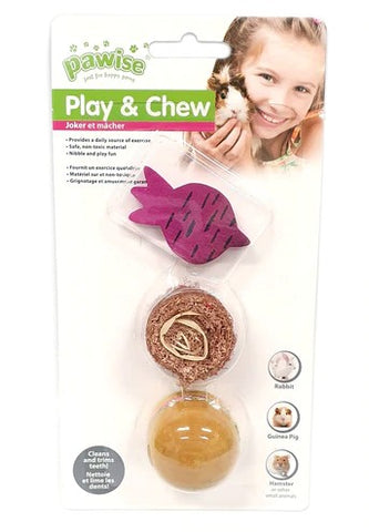 PAWISE WOOD AND PRETTY TOYS 3 PIECE