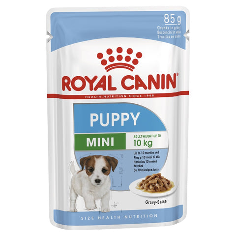 ROYAL CANIN MINI PUPPY WET DOG POUCH 85G BOX (12)