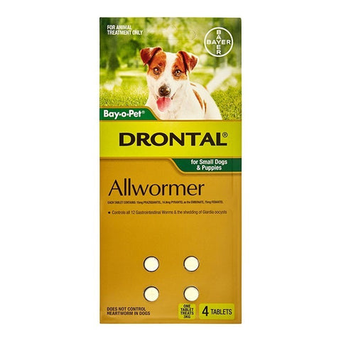 BAYER DRONTAL SMALL DOG 4 TABLET-3KG