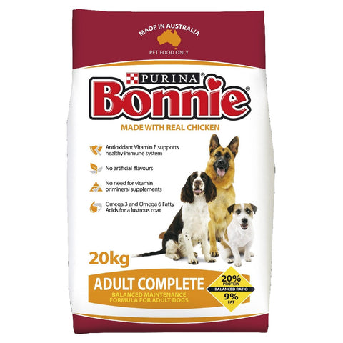 BONNIE ADULT COMPLETE DOG FOOD 20KG