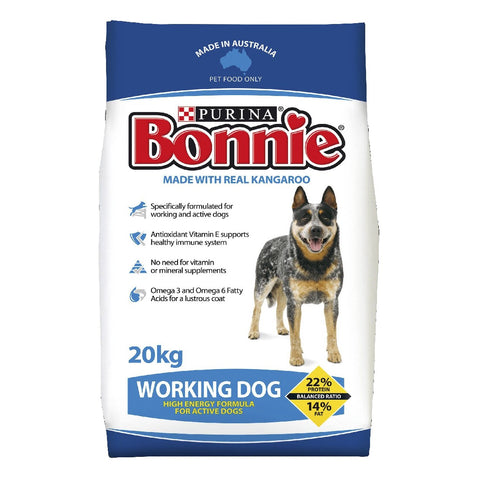 BONNIE WORKING DOG FOOD 20KG