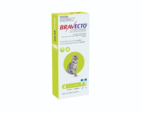 BRAVECTO SPOT ON CAT 1.2-2.8KG 2 PACK