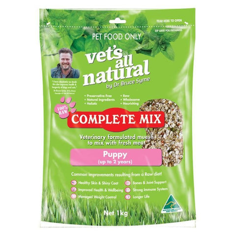 VETS ALL NATURAL COMPLETE MIX PUPPY 1KG