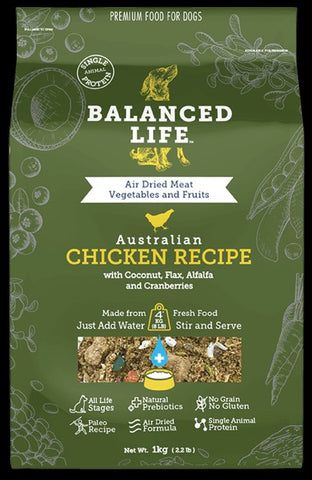 BALANCED LIFE REHYDRATE CHICKEN DOG FOOD MEAL TOPPER 200G