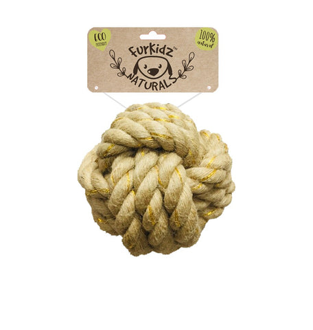 NATURES CHOICE JUTE BALL TOY 15CM