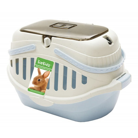 FURKIDZ SMALL ANIMAL CARRIER LARGE BLUE