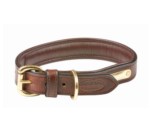 WEATHERBEETA PADDED LEATHER COLLAR BROWN