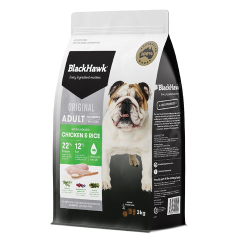 BLACK HAWK DOG FOOD CHICKEN & RICE