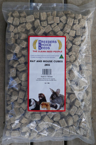 BREEDERS CHOICE SEEDS RAT & MOUSE CUBES 2KG