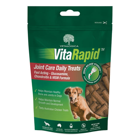 VETALOGICA VITARAPID JOINT DAILY TREATS FOR DOGS 210G