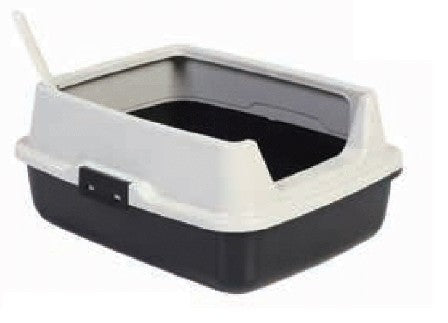 HIGH RIM CAT LITTER TRAY 50 x 40 x 22CM WITH FREE SCOOP