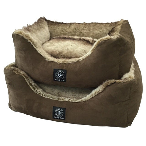 MOCHA SUEDE BED MEDIUM
