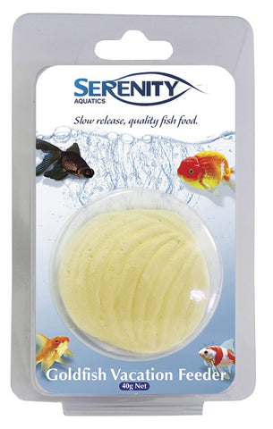 SERENITY GOLD FISH VACATION FEEDER 1 PACK 40G