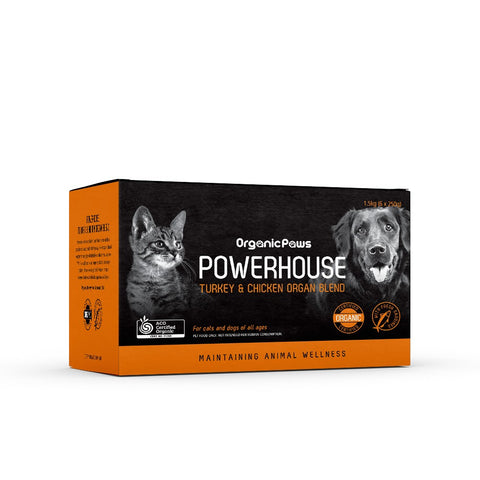 Organic Paws Powerhouse Turkey 1.5kg