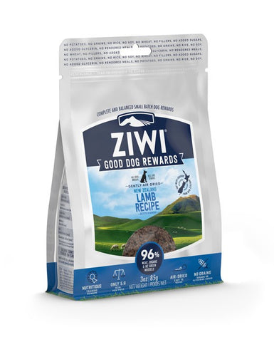 ZIWI PEAK LAMB AIR DRIED DOG TREATS GOOD DOG REWARDS 85G
