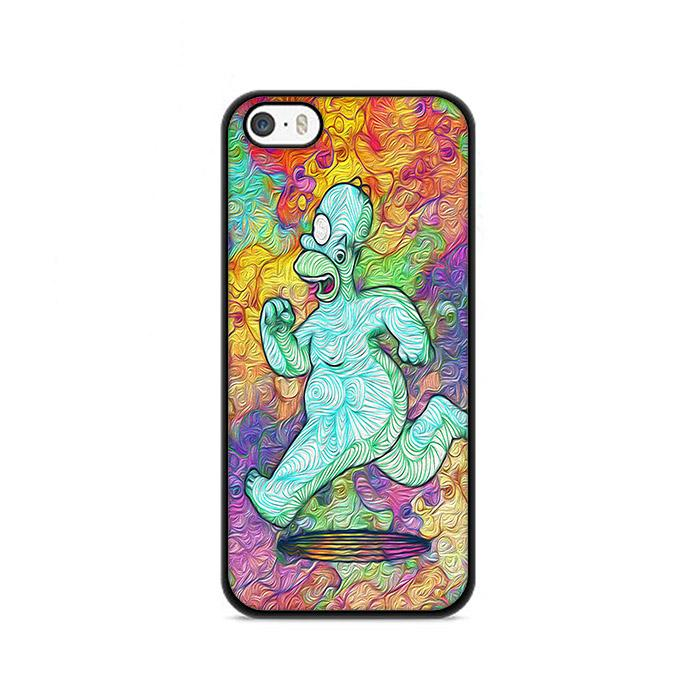 Run Homer The Simpson Abstract iPhone 5|5S|SE hoesjes