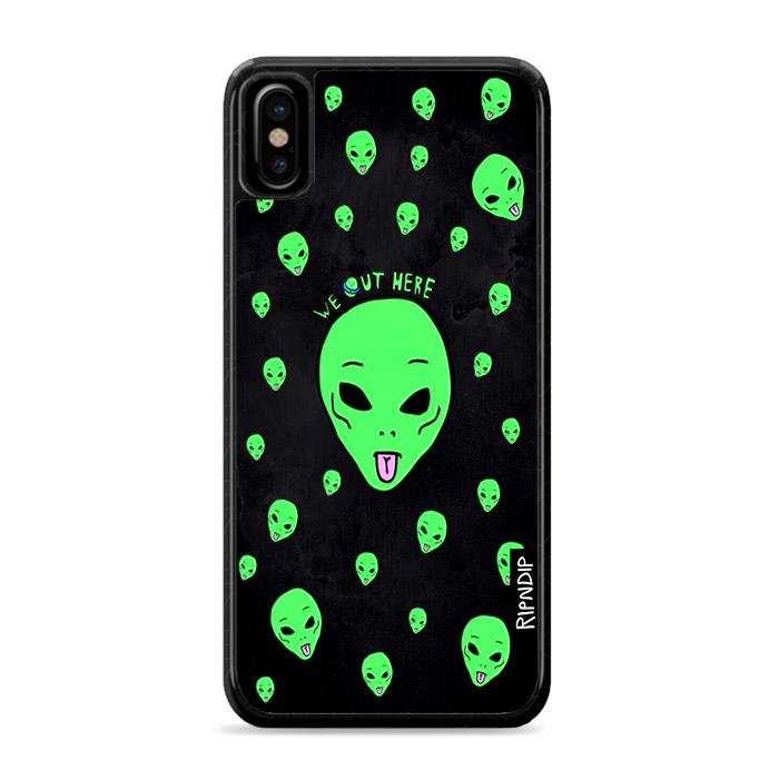 Ripndip We Out Here Alien iPhone X hoesjes