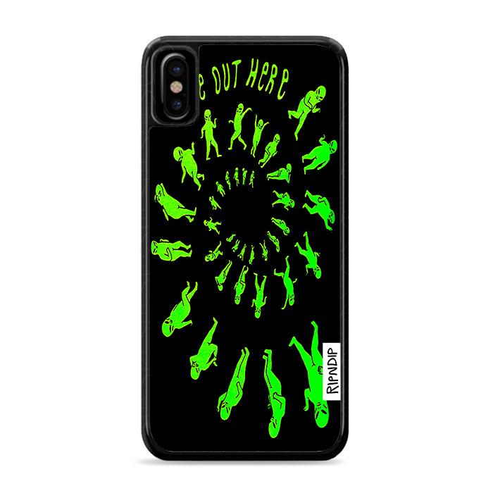 Ripndip We Out Here Party Tie Dye iPhone X hoesjes