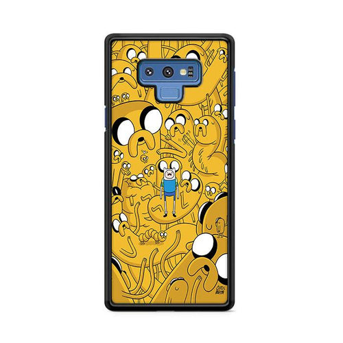 Yellow Adventure Time Samsung Galaxy Note 9 hoesjes