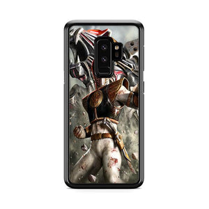 White Power Rangers Poster Samsung Galaxy S9 Plus hoesjes
