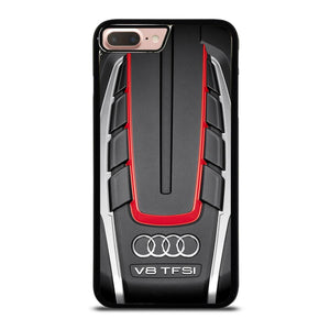 coque custodia cover fundas hoesjes iphone 11 pro max 5 6 7 8 plus x xs xr se2020 C18236 ENGINE AUDI SPORTS #1 iPhone 7 / 8 Plus Case
