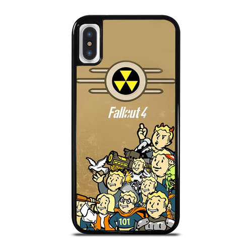 coque custodia cover fundas hoesjes iphone 11 pro max 5 6 7 8 plus x xs xr se2020 C18480 FALLOUT BOY CHARACTER iPhone X / XS Case