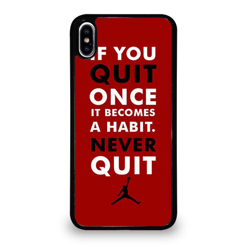 coque custodia cover fundas hoesjes iphone 11 pro max 5 6 7 8 plus x xs xr se2020 C26133 MICHAEL JORDAN QUOTES #1 iPhone XS Max Case