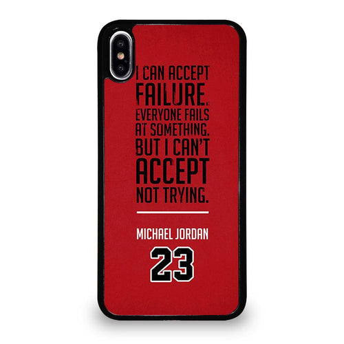 coque custodia cover fundas hoesjes iphone 11 pro max 5 6 7 8 plus x xs xr se2020 C26143 MICHAEL JORDAN QUOTES #2 iPhone XS Max Case