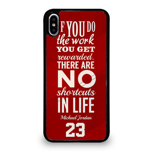 coque custodia cover fundas hoesjes iphone 11 pro max 5 6 7 8 plus x xs xr se2020 C26153 MICHAEL JORDAN QUOTES #3 iPhone XS Max Case