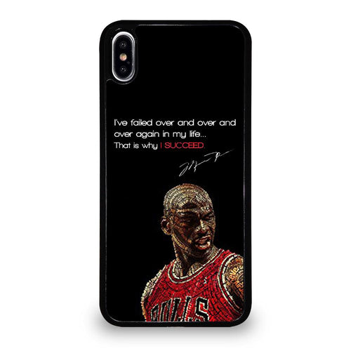 coque custodia cover fundas hoesjes iphone 11 pro max 5 6 7 8 plus x xs xr se2020 C26163 MICHAEL JORDAN QUOTES 4 iPhone XS Max Case