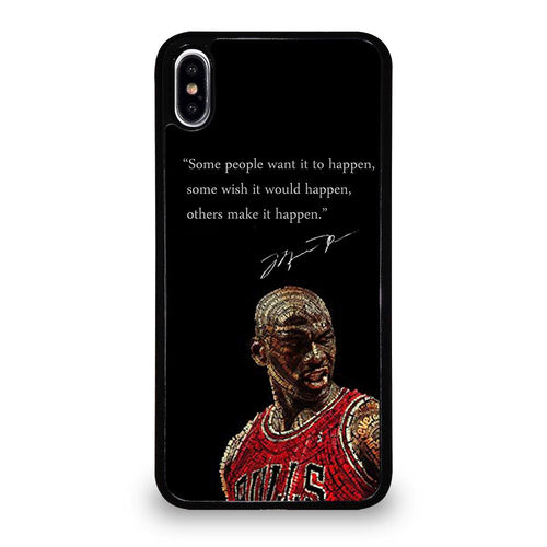 coque custodia cover fundas hoesjes iphone 11 pro max 5 6 7 8 plus x xs xr se2020 C26173 MICHAEL JORDAN QUOTES 5 iPhone XS Max Case