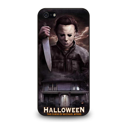 coque custodia cover fundas hoesjes iphone 11 pro max 5 6 7 8 plus x xs xr se2020 C26238 MICHAEL MYERS HALLOWEEN iPhone 5/5S/SE Case