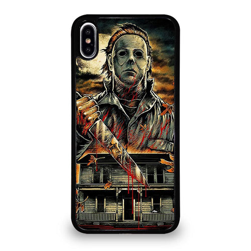 coque custodia cover fundas hoesjes iphone 11 pro max 5 6 7 8 plus x xs xr se2020 C26233 MICHAEL MYERS HALLOWEEN 1 iPhone XS Max Case