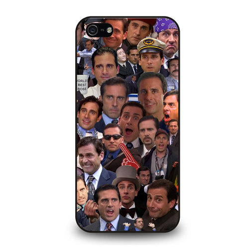 coque custodia cover fundas hoesjes iphone 11 pro max 5 6 7 8 plus x xs xr se2020 C26249 MICHAEL SCOTT COLLAGE iPhone 5/5S/SE Case