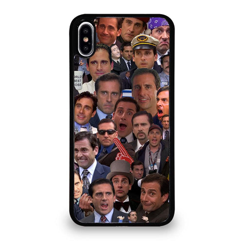 coque custodia cover fundas hoesjes iphone 11 pro max 5 6 7 8 plus x xs xr se2020 C26256 MICHAEL SCOTT COLLAGE iPhone XS Max Case